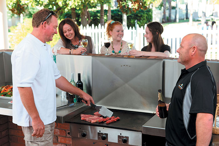 resort accommodation barbecues